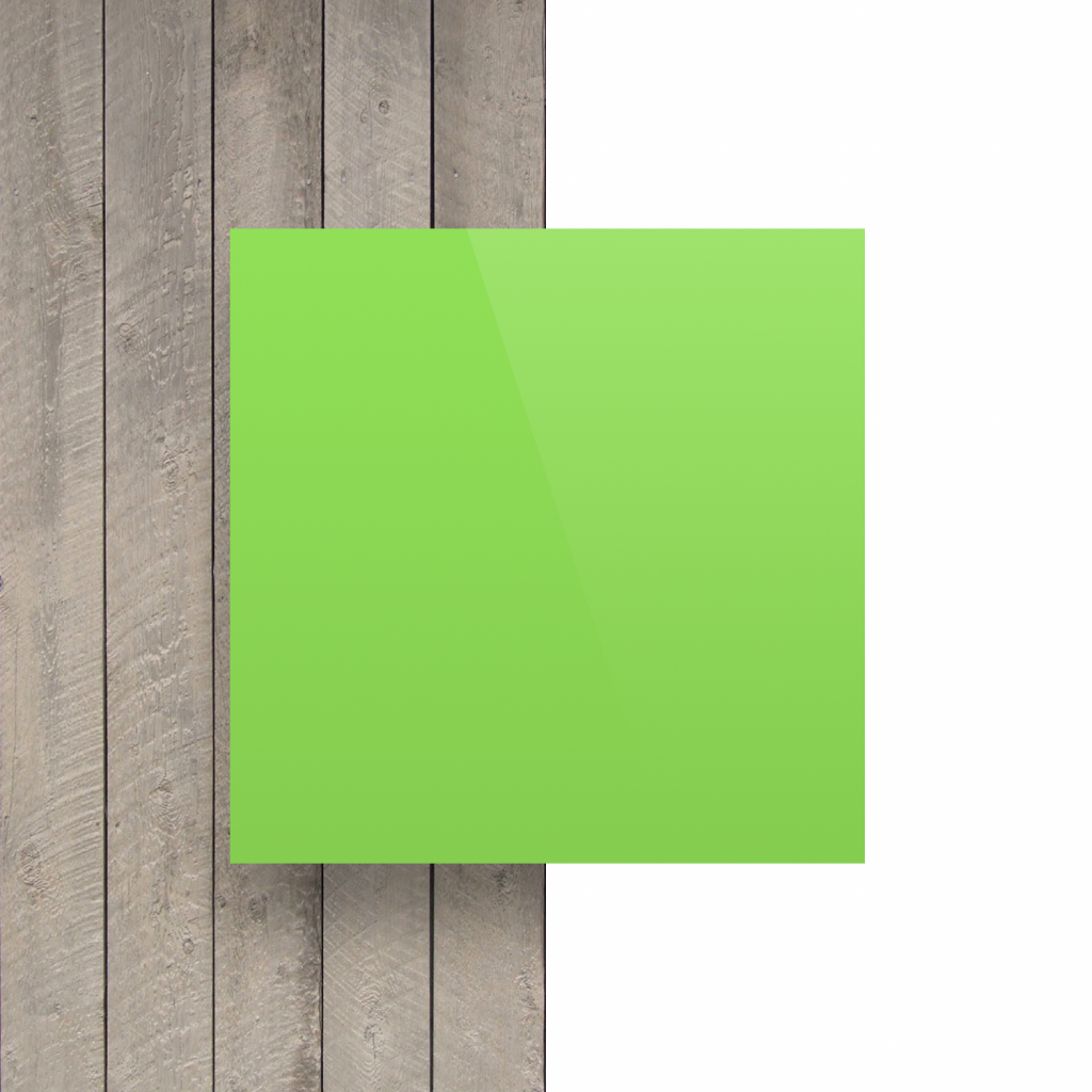 Devant plaque de lettres en plexiglass vert jaune brillant