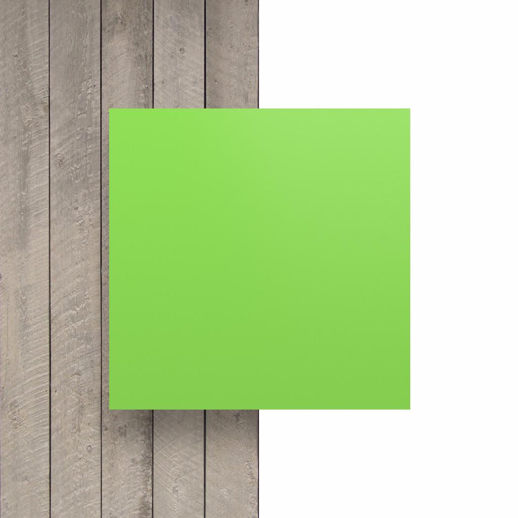 Devant plaque de lettres en plexiglass vert jaune mat