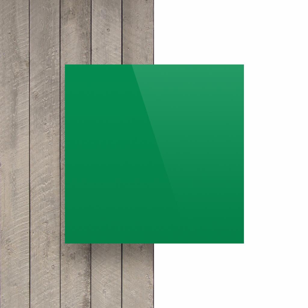 Devant plaque de lettres en plexiglass vert menthe brillant