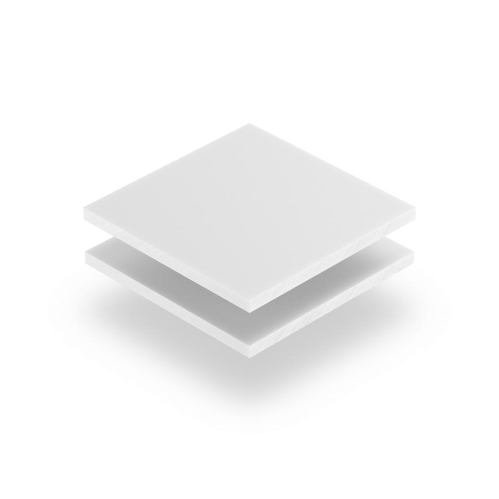 Plaque de lettres en plexiglass blanc mat