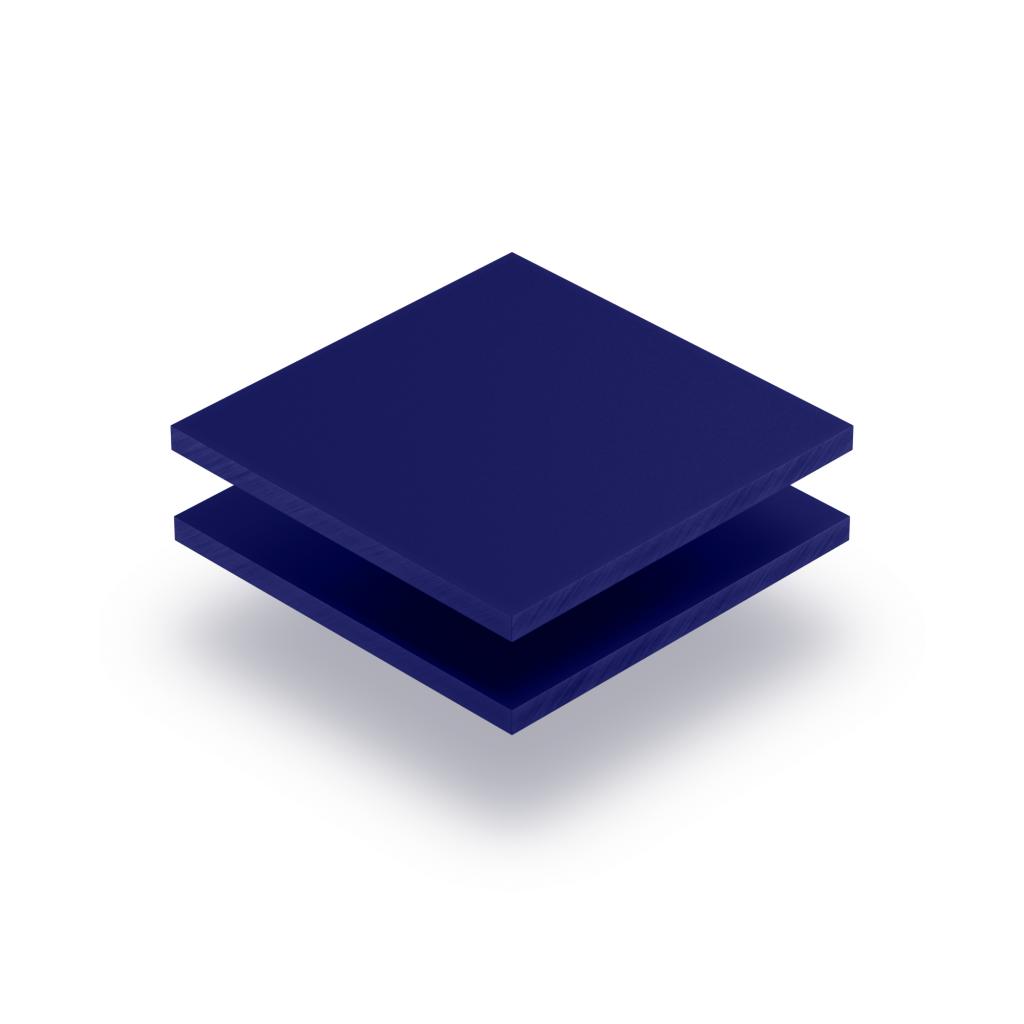 Plaque de lettres en plexiglass bleu nocturne mat