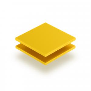 Plaque de lettres en plexiglass jaune signalisation mat