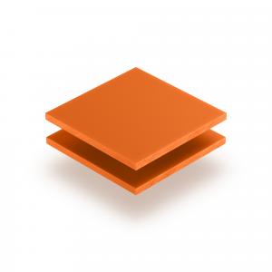 Plaque de lettres en plexiglass orange mat