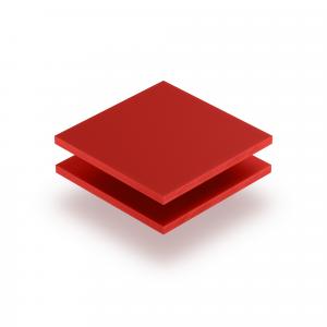 Plaque de lettres en plexiglass rouge de securite mat