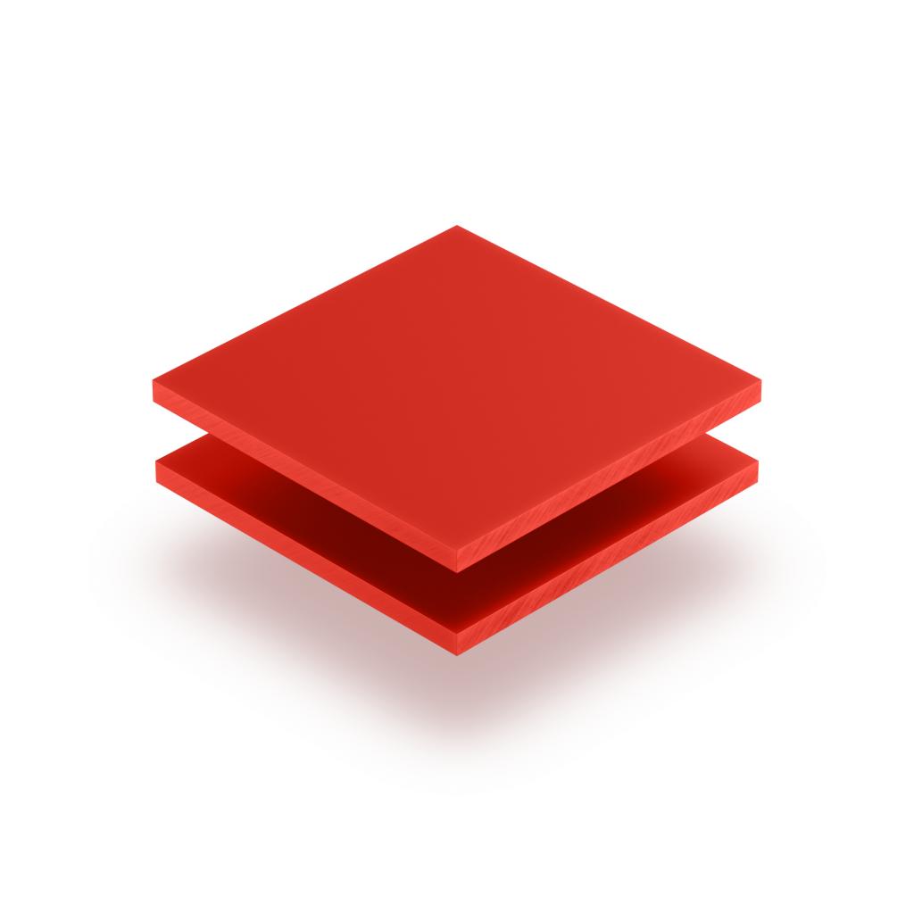 Plaque de lettres en plexiglass rouge signalisation mat