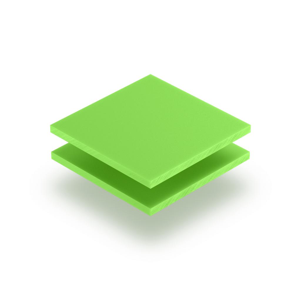 Plaque de lettres en plexiglass vert jaune mat