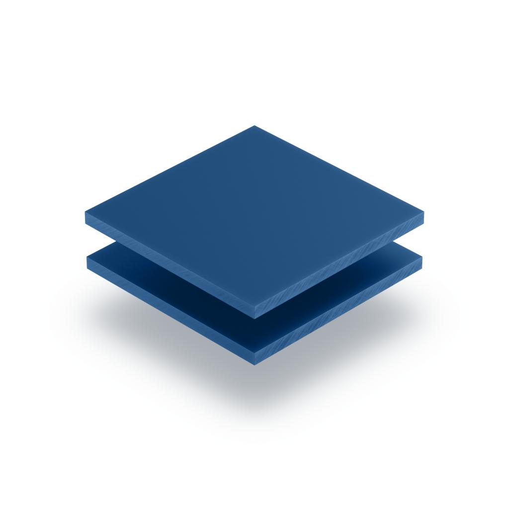 Plaque de lettres en plexiglass bleu mat