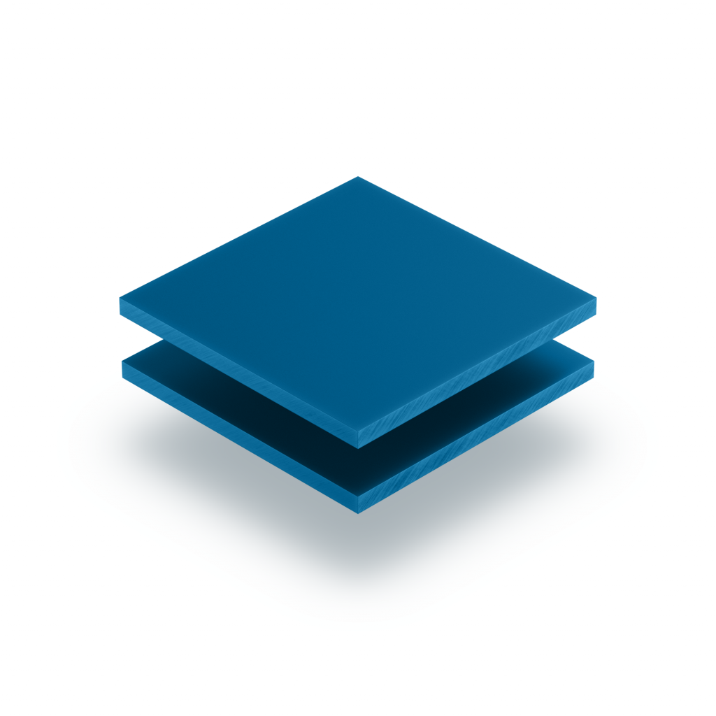 Plaque de lettres en plexiglass bleu signalisation mat