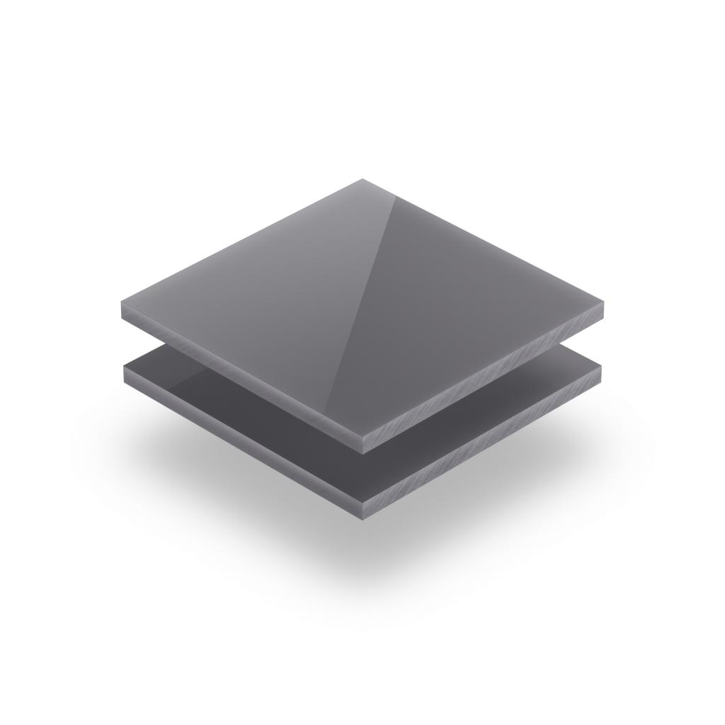 Plaque de lettres en plexiglass brillant gris