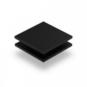 Plaque de lettres en plexiglass noir mat